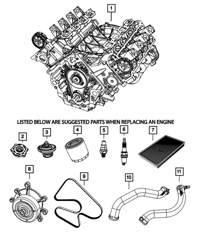 Genuine Chrysler 55116867AA Radiator Cooling Inlet Hose