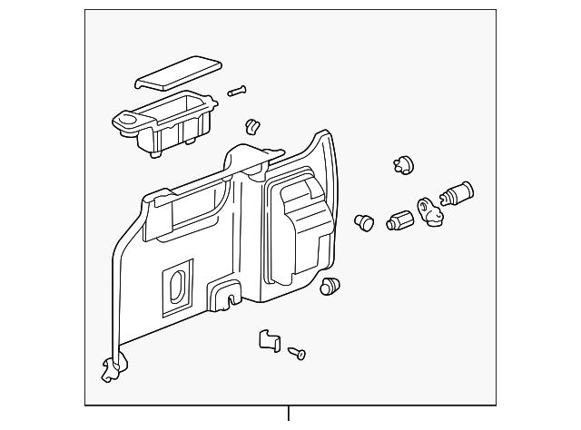 Lining Assembly, L Rear Side *NH284L* (Light Quartz Gray)