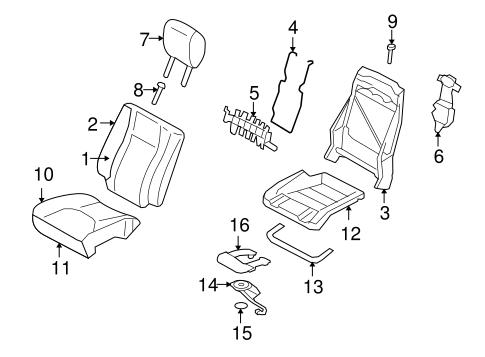 front seat components for 2010 lincoln navigator silver. Black Bedroom Furniture Sets. Home Design Ideas