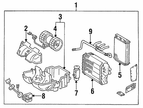 Heater Components for 1994 Mercedes-Benz E 320 #0