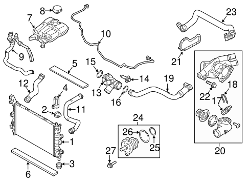 Radiator Components For 2015 Ford Focus