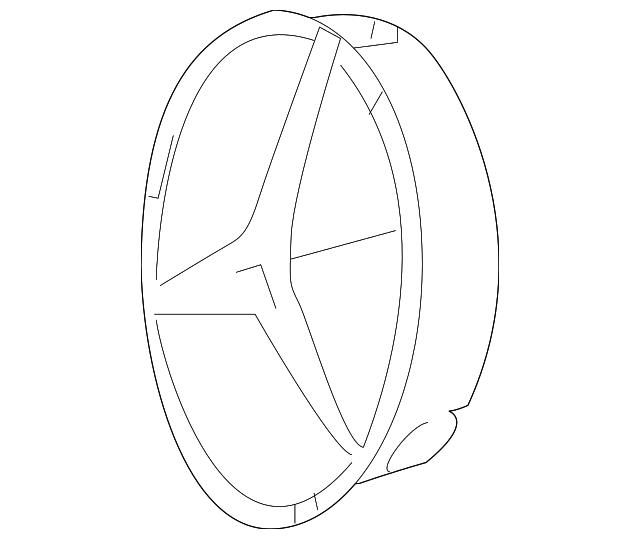 2008 2018 Mercedes Benz Emblem Support 207 888 02 60
