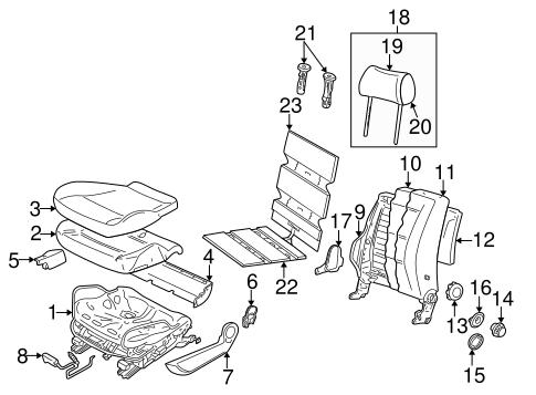 Front Seat Components For 2001 Volkswagen Passat