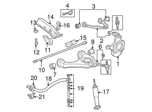 stabilizer bar  u0026 components for 2001 chevrolet silverado 3500