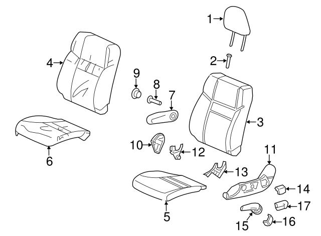 Honda Genuine 82537-T0K-A01 Seat Cushion Pad