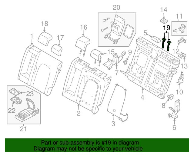 ONE Genuine Ford Headrest Guide CU5Z-96610A16-BR