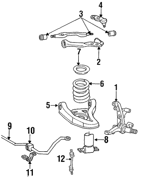 Suspension Components For 1993 Lincoln Town Car Fordoemparts