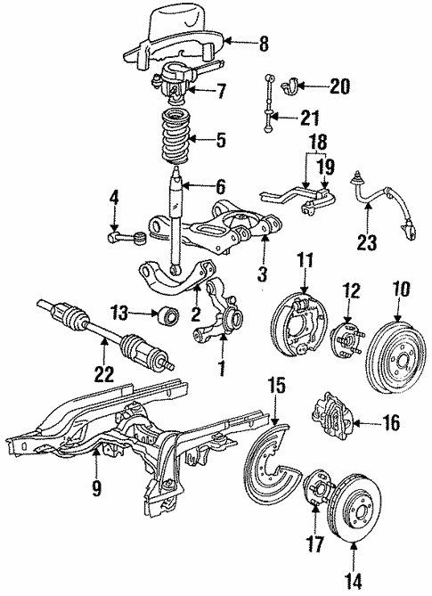 Rear Suspension/Rear Suspension for 1992 Ford Thunderbird #1
