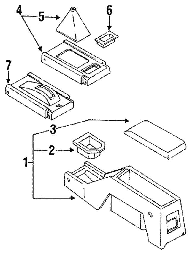 TOYOTA 58802-34012-J0 Console Box
