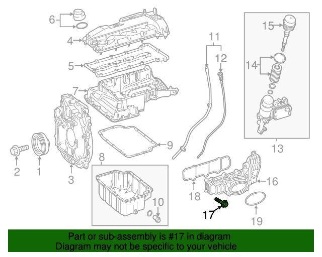 mercedes benz intake manifold bolt 002 990 58 22 rh parts mercedesbenzofwappingersfalls com 2008 Mercedes Intake Manifold Diagram BMW E46 Intake Manifold Diagram