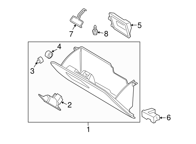 19982012 Ford Glove Box Assembly Bumper N805645s Beechmont Parts: 2006 Ford Ranger Fx4 Bumper Diagram At Daniellemon.com