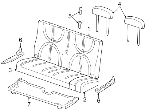 Rear Seat Components For 1999 Dodge Durango