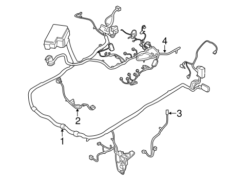 ford mustang engine wiring harness