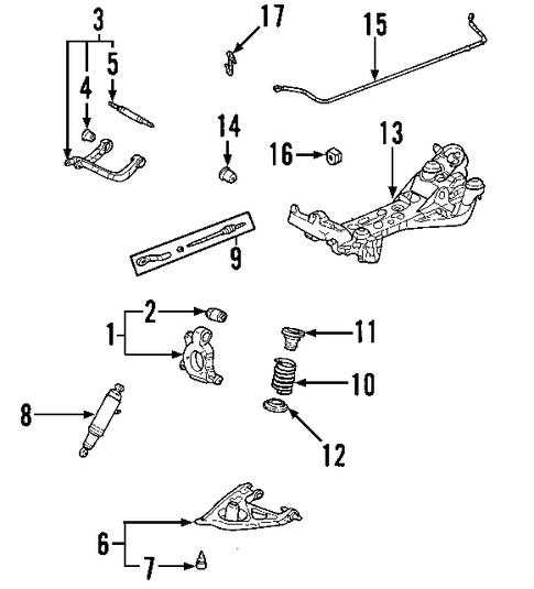 oem 2005 chevrolet uplander rear suspension parts