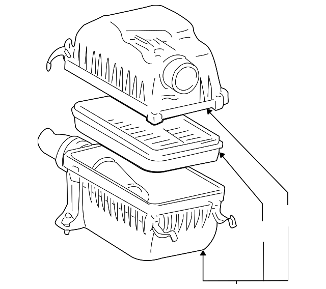 Air Cleaner Assembly Toyota 177000f041: 2005 Toyota Sequoia V8 Engine Parts Diagram At Sergidarder.com