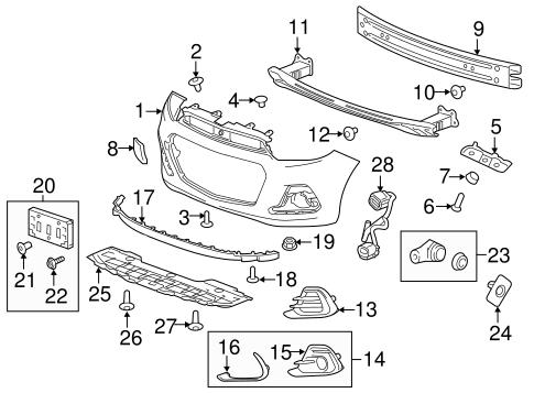 oem 2016 chevrolet spark bumper components front parts. Black Bedroom Furniture Sets. Home Design Ideas