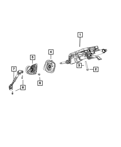 Steering Column and Intermediate Shaft for 2017 Jeep Grand Cherokee #0
