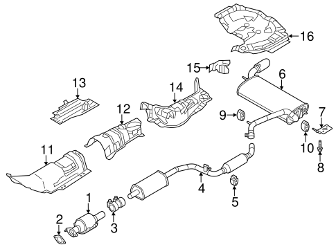 exhaust system/exhaust components for 2016 ford focus #2