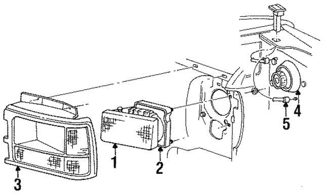 Dodge Dakota Headlamp Assembly Diagram