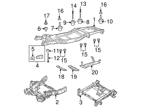 f 150 frame diagram frame   components for 2005 ford f 150 wade ford parts  frame   components for 2005 ford f 150