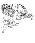 Floor Mat Kit - Mopar (1MF731DVAC)
