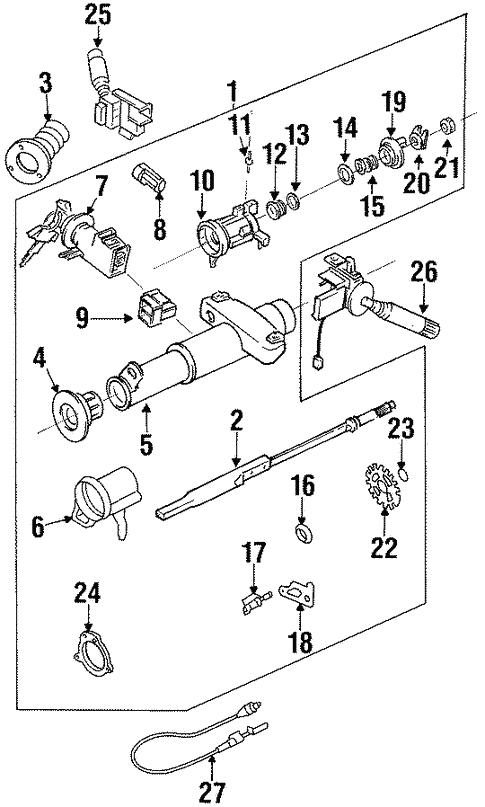 Brilliant Steering Column Assembly For 1998 Pontiac Grand Am Gmpartsdirect Com Wiring Digital Resources Bioskbiperorg