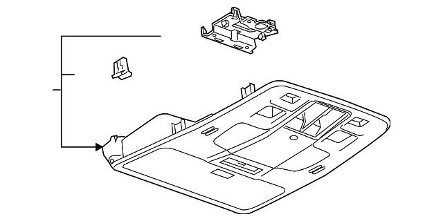 overhead console - gm (22819735)