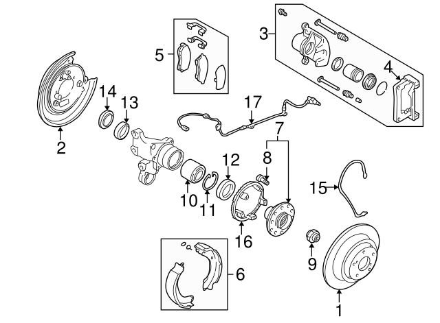 1998 2002 Subaru Rear Speed Sensor 27540fc000