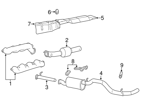 OEM 1999 Ford F-250 Super Duty Exhaust Components Parts -  BlueSpringsFordParts.comBlue Springs Ford Parts