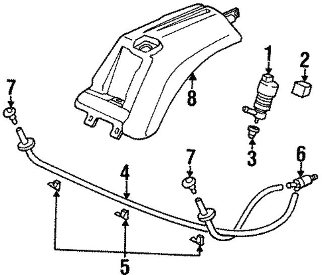 1992 2013 Porsche Washer Pump Gasket 928 628 193 00