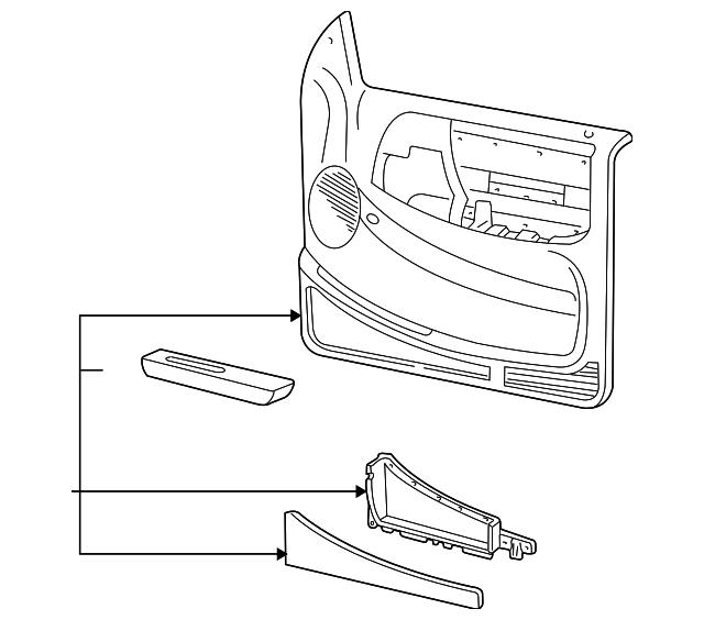 1998 2002 Ford Ranger Door Trim Panel Xl5z1023943aab