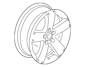 Wheel, Alloy - GM (9597593)