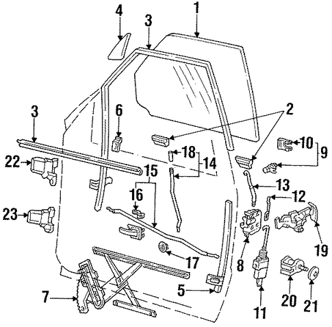 2005 Bmw X5 Vacuum Schematic moreover 1997 Nissan Pathfinder Front End Diagram moreover 03 Ranger Door Latch Diagram besides Chevy Equinox Pcv Valve Location further Ford Freestar Wiring Harness. on 2000 ford explorer door parts diagram