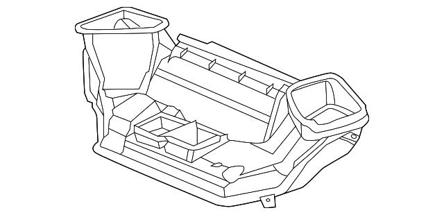 2012 2014 Honda Cr V 5 Door Duct Assembly Joint Left Hand 77460
