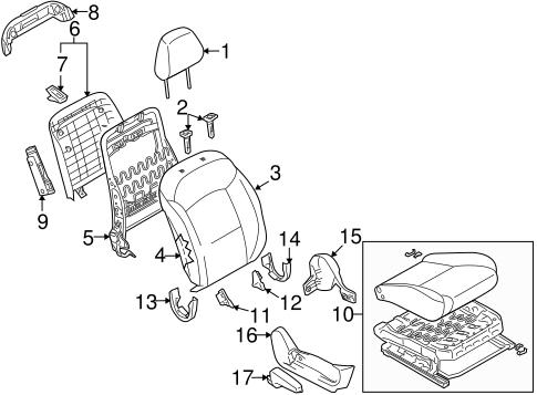 Passenger Seat Components For 2011 Suzuki Kizashi World Oem Parts Subaru