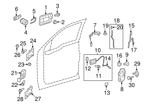 Truck Body Door Latch besides 2005 Ford Explorer Liftgate Diagram Html furthermore 2005 Chevy Silverado Interior Parts Diagram in addition 2003 Ford Taurus Power Window Wiring Diagram further 320 Mustang Wiring Diagram. on ford f 150 door latch diagram