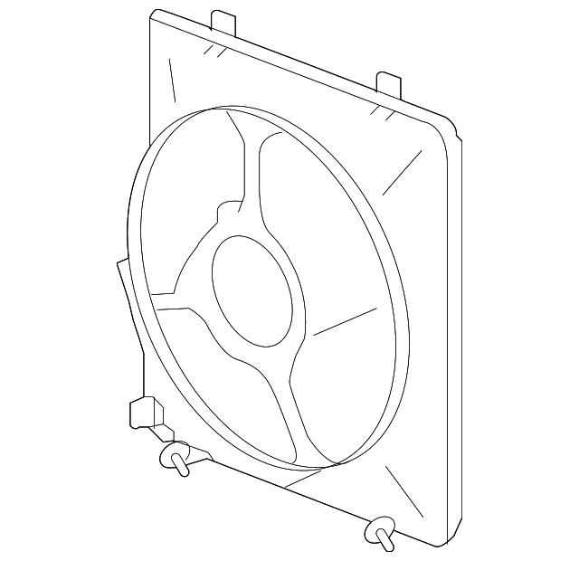 2010-2013 Acura ZDX 5-DOOR Sub Shroud 38615-RP6-A01