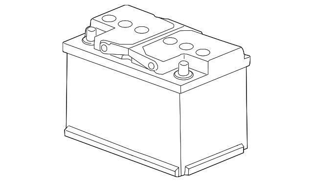 battery volkswagen 000 915 105 dg dsp vwpartscente. Black Bedroom Furniture Sets. Home Design Ideas