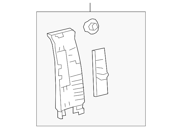 Genuine Toyota 62412-12410-B0 Center Pillar