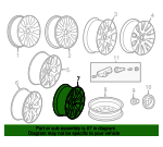 Wheel, Alloy - GM (22792222)