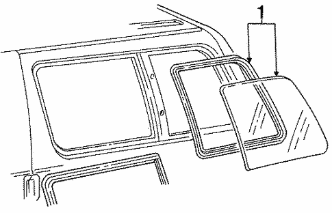 Glass - Side Panel for 1987 Ford Aerostar #0