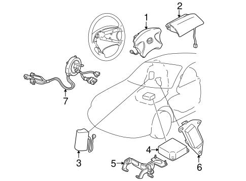 Genuine Oem Air Bag Components Parts For 1999 Mazda 626 Es