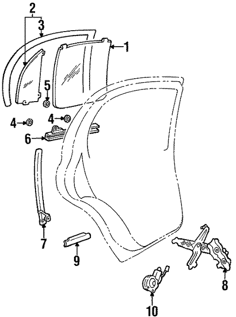 Rear Door For 1997 Lincoln Continental