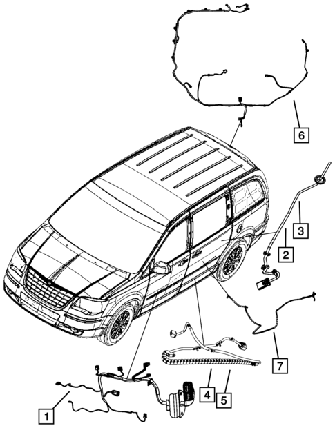 Wiring Body And Accessories For 2009 Dodge Grand Caravan