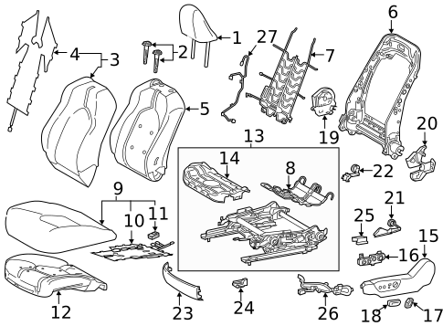 TOYOTA Genuine 71812-47070-C0 Seat Cushion Shield