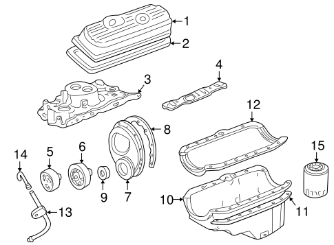 Oe808711 in addition Chevy 229 V6 Engine Diagram moreover Serpentinebeltdiagrams in addition P 0900c15280055ac6 additionally Gm Cover Gasket 10108435. on buick 305 v8 engine