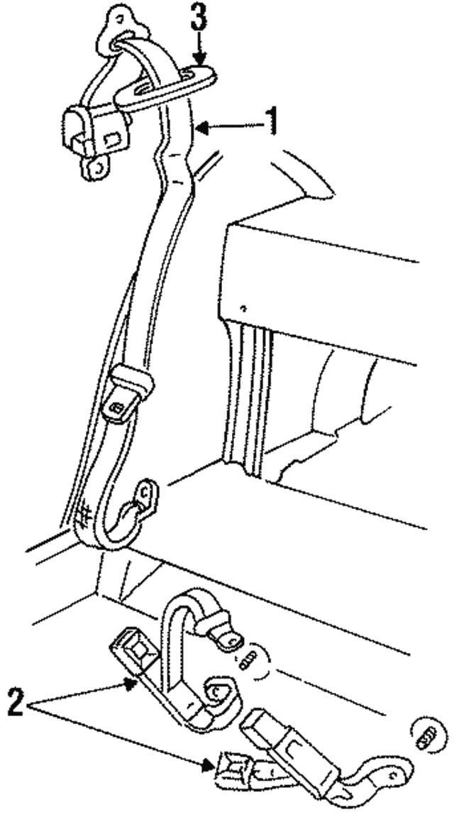 1997 1999 Cadillac Deville Belt Retractor 12530903