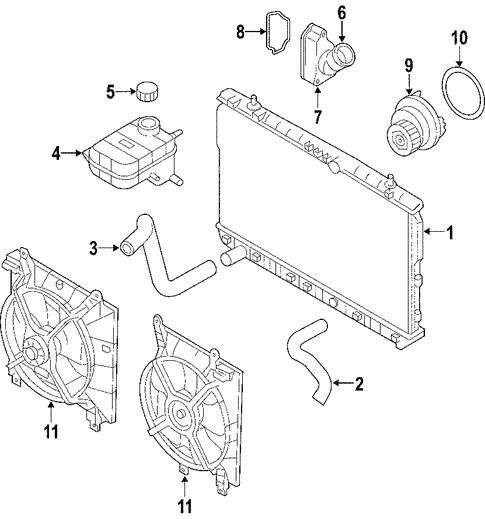 Cooling System for 2005 Suzuki Forenza | Suzuki Car PartsSuzuki Car Parts
