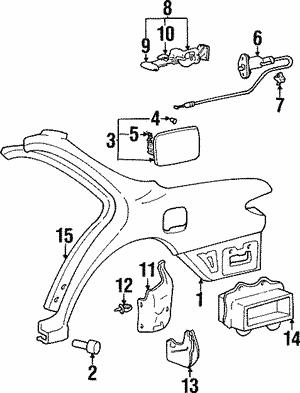 Genuine Hyundai 86832-24010 Wheel Mud Guard Assembly