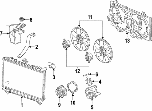 [NRIO_4796]   Water Pump for 2010 Chevrolet Camaro (LS) | GMPartsNow | 2010 Camaro Engine Cooling System Diagram |  | GMPartsNow